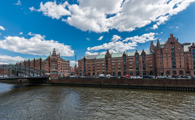 Warehouse district of Hamburg (Speicherstadt), Germany.