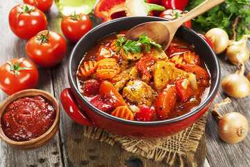 Meat stew with vegetables