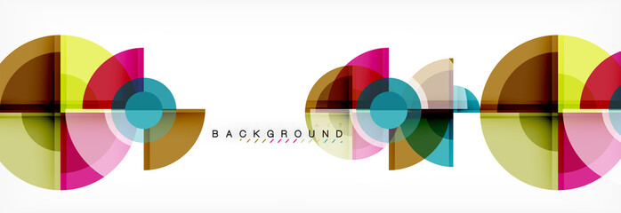 Abstract background bright circles geometric design