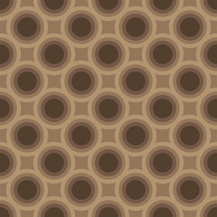 Seamless abstract circle art geometric brown pattern