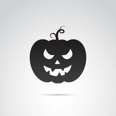 Pumpkin vector icon.