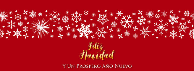 Spanish Christmas and Happy New Year greeting card.