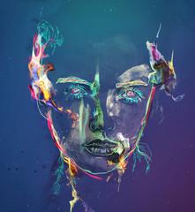 Colorful female portrait