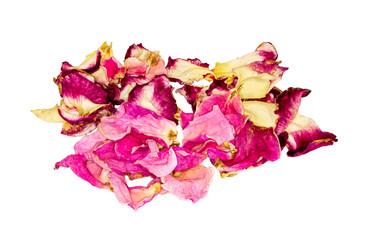 Dried rose petals. Flower tea