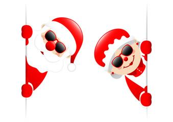 Santa & Mrs. Santa Sunglasses Inside Banner