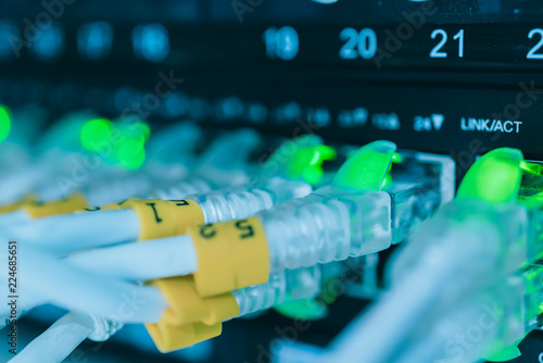 Awesome Server Room With Lan Wiring System Plug And Router Hub Stockfotos Wiring 101 Olytiaxxcnl