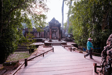 Buddha Temple in the nature of cambodia