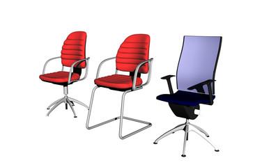 Bunte Bürostühle