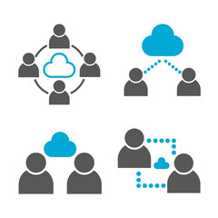 people network and cloud collaboration