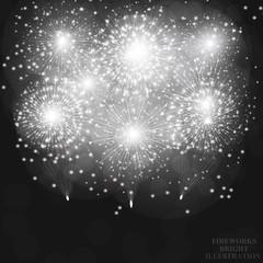 Festive fireworks background.