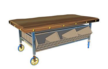 Rollwagen mit Ablagefächern