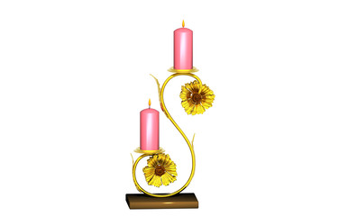 Goldener Kerzenständer mit Kerzen