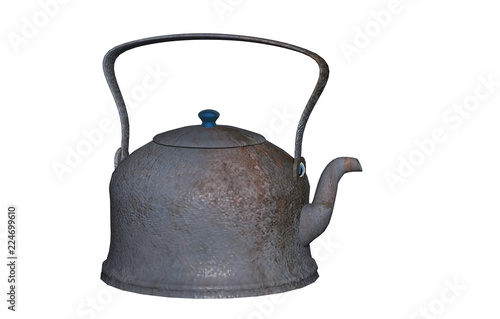 Alter Rostiger Teekessel Stock Photo And Royalty Free Images On
