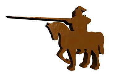 Soldaten Silhouette antiker Krieger