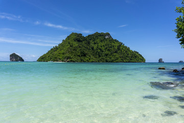 small island with clear waters