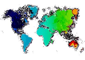 世界地図 グランジ