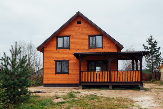 wooden country house exterior