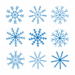 Snowflakes. Christmas and New Year decoration. Winter theme