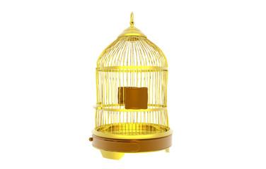 Goldener Vogelkäfig