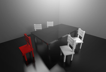 3d rendering meeting room business partnership agreement concept.