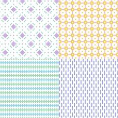 pastel small vector geometric patterns