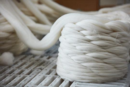 Dyeing yarn fabrics production farm