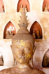 Buddha statue at PHA that Luang. Laos. Vientiane.