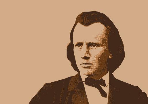 Brahms, musicien, portrait, personnage célèbre, piano, pianiste, musique, célèbre, musique, classique