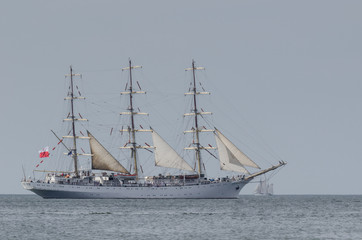 SAILING VESSEL - Frigate in a cruise on the sea