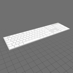 Wireless keyboard with numeric pad