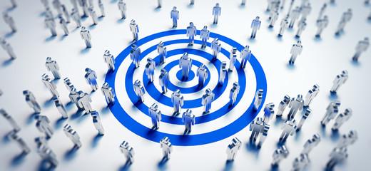 Zielgruppe - Target - Erfolg Fototapete