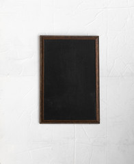 framework, modern black frame on a white background, black screen