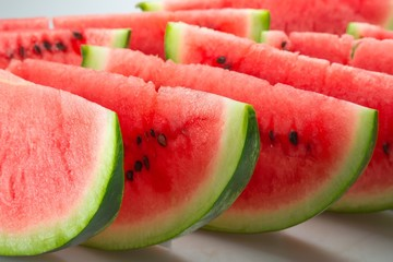 Slices of Watermelon Close-Up