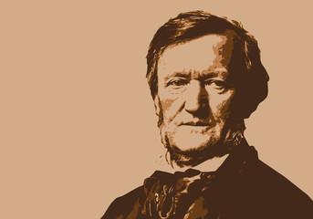 Wagner, musicien, portrait, personnage, piano, pianiste, musique, célèbre, classique, compositeur