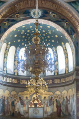Chandelier in the Church, an integral element of the Orthodox interior