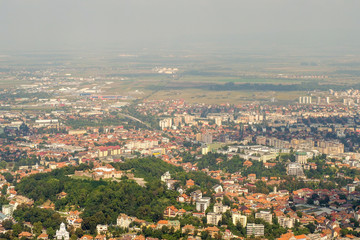 View of Old Town Brasov from Mountain Tampa, Transylvania, Romania