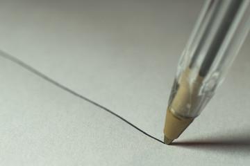 write a line whith ballpen