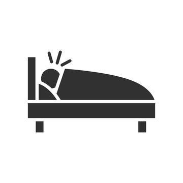 Man sleeping on bed, snore