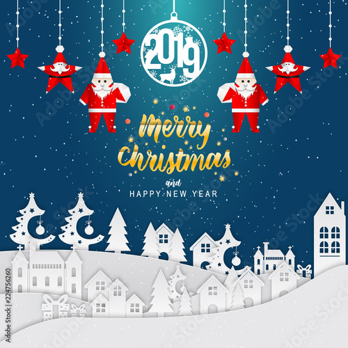 happy new year 2019 and merry christmas background carte de voeux new year greeting