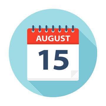 August 15 - Calendar Icon