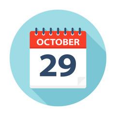 October 29 - Calendar Icon