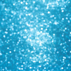 Blue background for christmas navy glitter sparkle. Abstract bokeh light shiny dark holiday.
