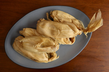 Vegetarian Tamales (Huitlacoche and Chipil)