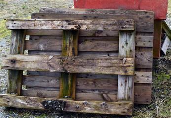 Old wooden pallets.
