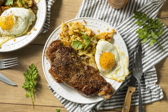 Homemade Steak and Eggs Breakfast