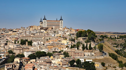 The Alcázar of Toledo is a stone fortification located in the highest part of Toledo, Spain. Once used as a Roman palace in the 3rd century, it was restored and is a popular tourist attraction.