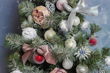 christmas decoration on the tree background
