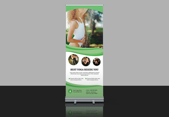 Banner Advertisement Layout with Green Accents
