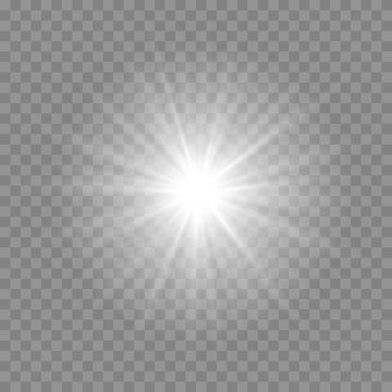Vector light effect on the transparent background.