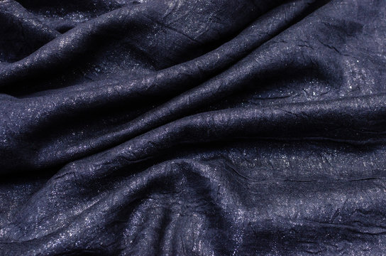 Fabric made from viscose with lurex of black-gray-silver color